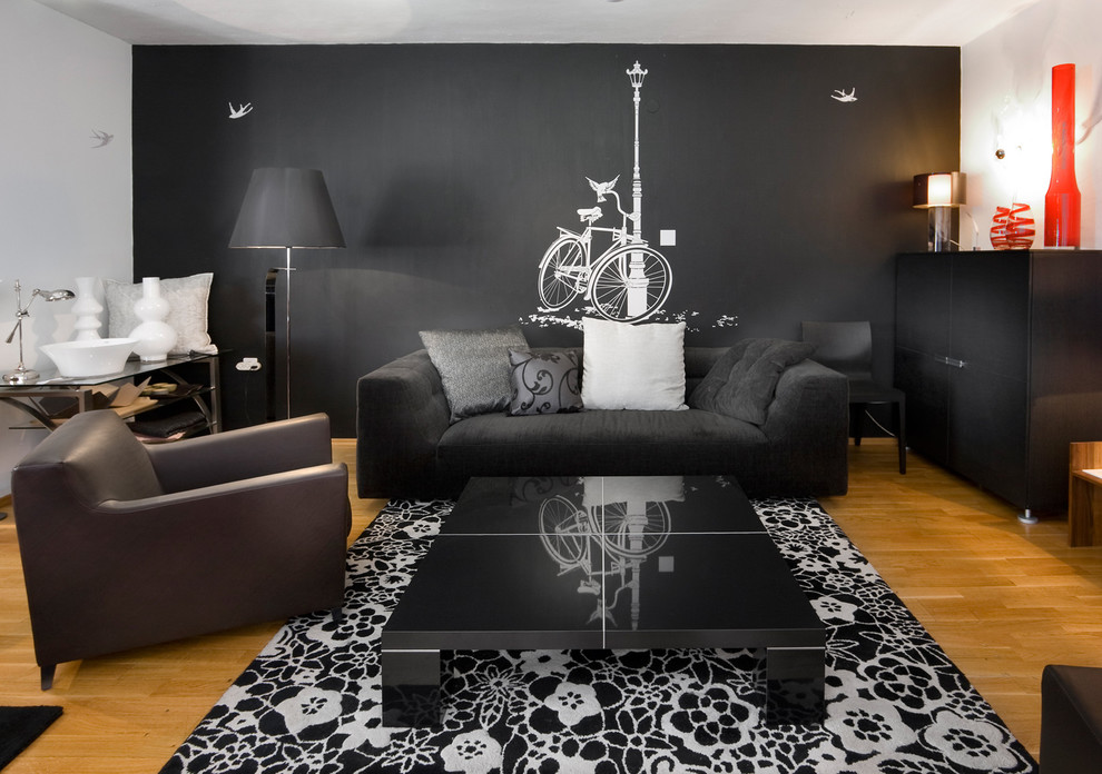 Black wallpaper for bedroom walls